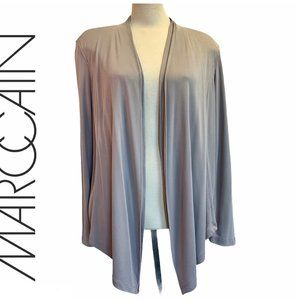Marc Cain brown taupe open Cardigan Sz 6